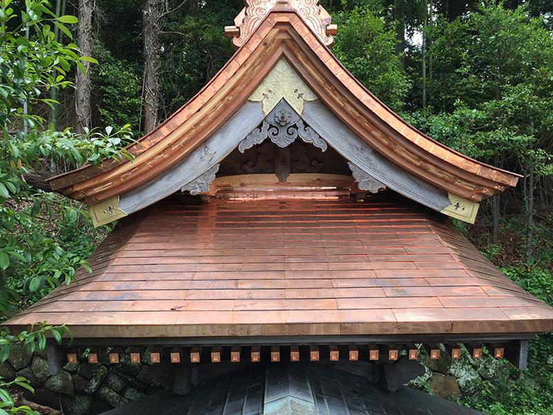 隠岐の島町御崎神社の修復